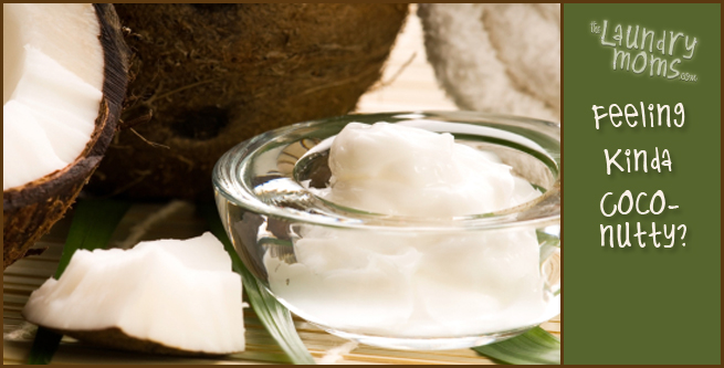 the laundry moms, laundry, home remedies, coconut oil