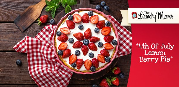 4th Of July Lemon Berry Pie