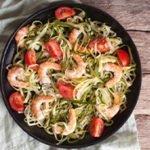 Tahini Cucumber Shrimp Salad