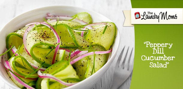 Peppery Dill Cucumber Salad