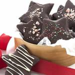 Chocolate Peppermint Star Cookies