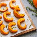 Maple Rosemary Roasted Squash